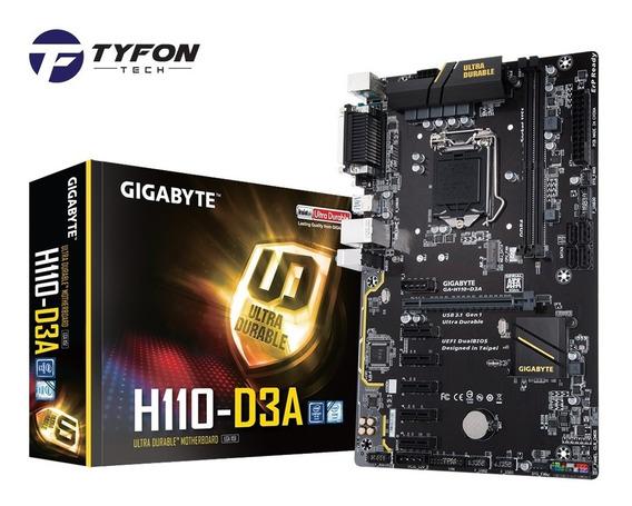 Placa Mãe Gigabyte Ga-h110-d3a Intel I3-i5-i7 E Mineração