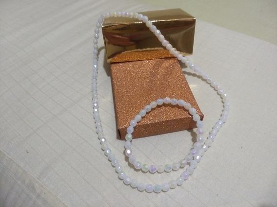 Pulseira +colar Imitação De Pérola Muito Linda
