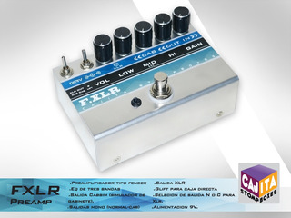 Fxlr - Preamp Guitarra Cajita - Caja Directa - Dibox - Eq -