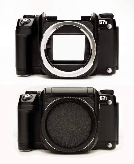 Câmera Pentax 6x7 67 Modelo Il + 2 Lentes E Outros Acessório