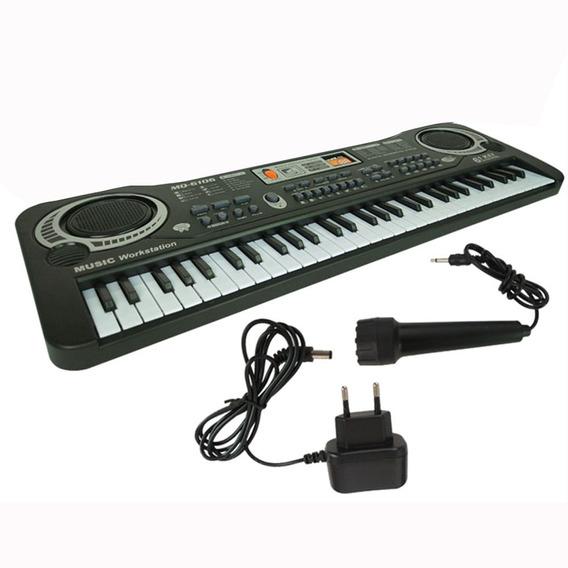 61 Teclas De Música Digital Teclado Eletrônico Presente Pian