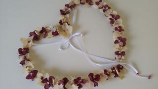 Porta Alianças Coração C/ Flores Naturais Desidratadas