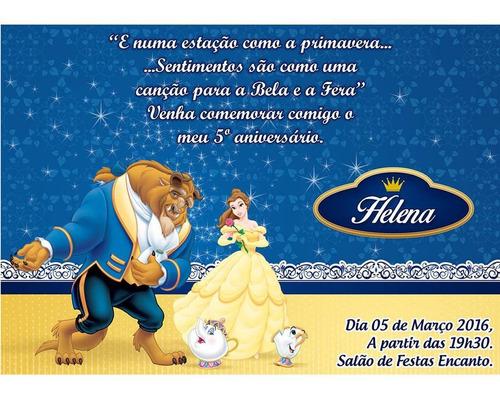 Imagem 1 de 1 de Convite Digital A Bela E A Fera - Arte - Mod. 02