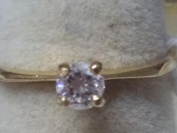 Anillo Solitario Diamante 0.22 Kilates Amarillo 14 Kts