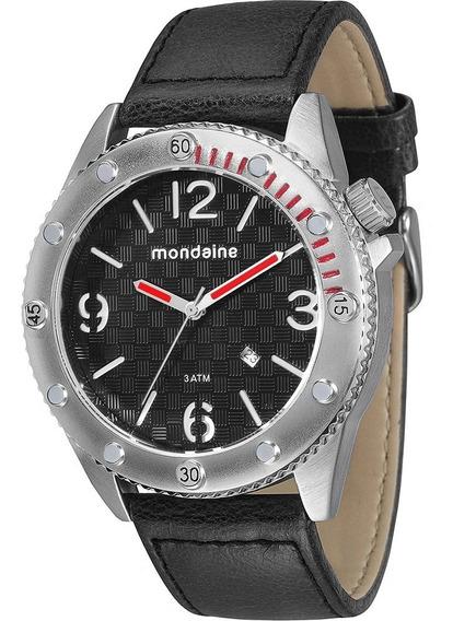 Relógio Mondaine 76411g0mgnh1 Couro Preto