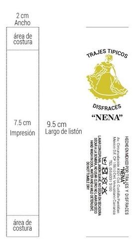 Etiqueta De Listón Para Ropa Personalizada - 500 Pzs