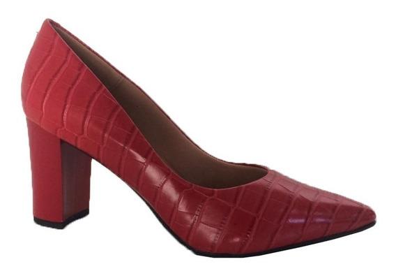 Sapato Scarpin Confortavel Salto Médio Grosso - 5338.21399