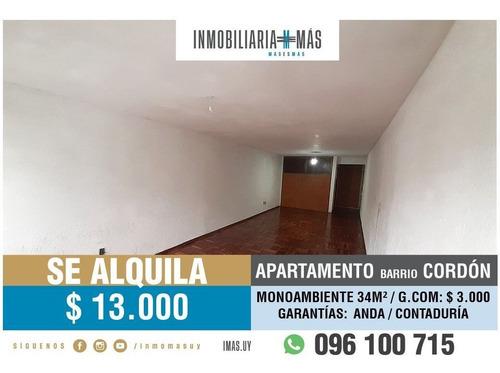 Imagen 1 de 11 de Alquiler Monoambiente Tres Cruces Montevideo Imas.uy N