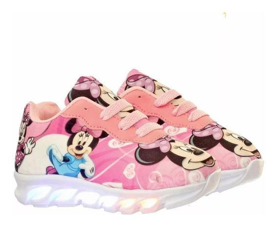 Tênis Led Infantil Minie Disney