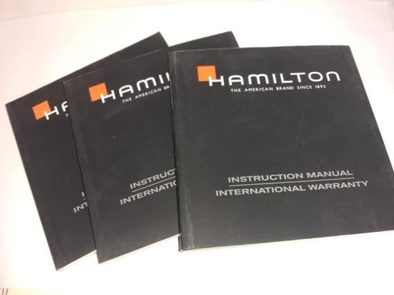 Instructivo Reloj Hamilton Con Certificado O Tarjeta