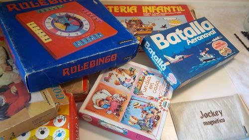Lote 8 Juegos Mesa Niños Retro Vintage +5 Libros Y Billetera