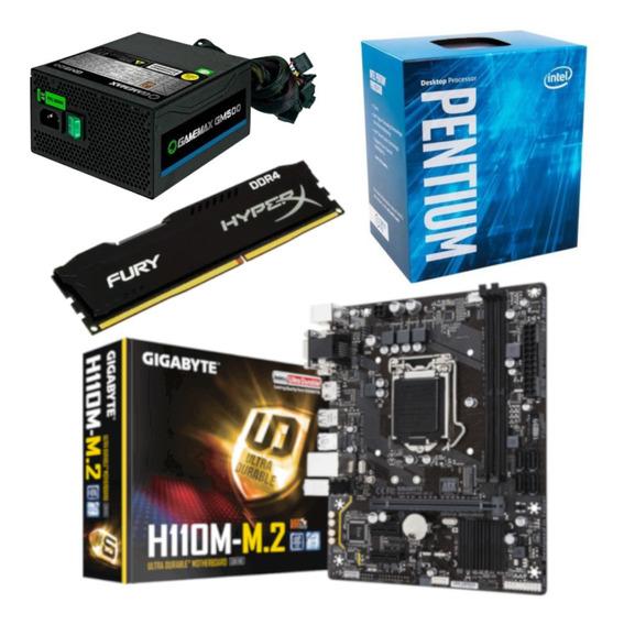 Kit Pentium G4560 + Gigabyte H110m M2 + Hx 8gb 2400 + Gm500