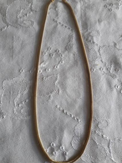 Cordão Antigo Folheado A Ouro Escama Sem Fecho