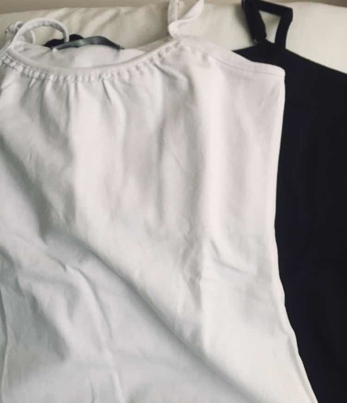 Musculosa Blanca / Negra De Algodón Talle Único