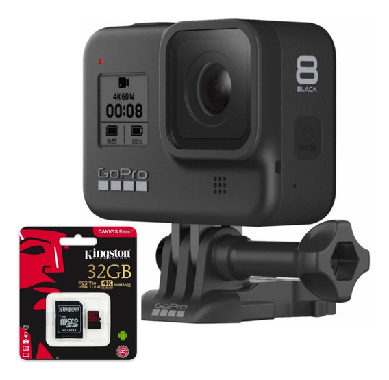 Câmera Digital Gopro Hero 8 Black 12 Mp 4k + Sd 32gb Com Nfe