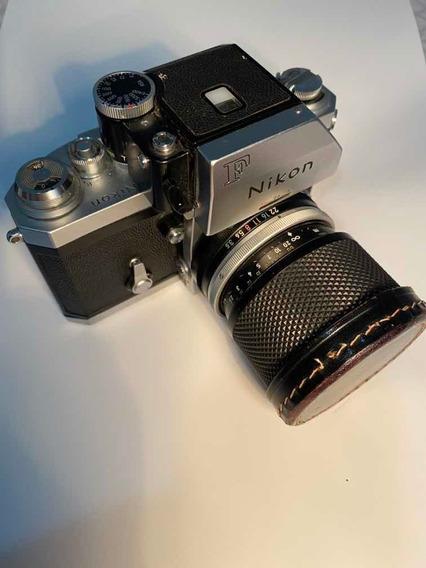Câmera Nikon F + 2lentes Funcionando + Suport Pra Transporte