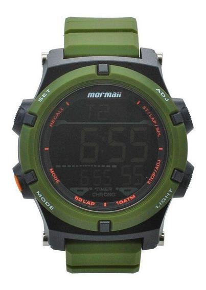 Relógio Masculino Verde Militar Esportivo Mo1192ad - Mormaii