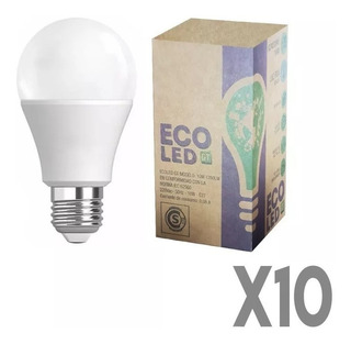 Lámparas Led Hogar Bajo Consumo 10 Unidades 10w = 100w
