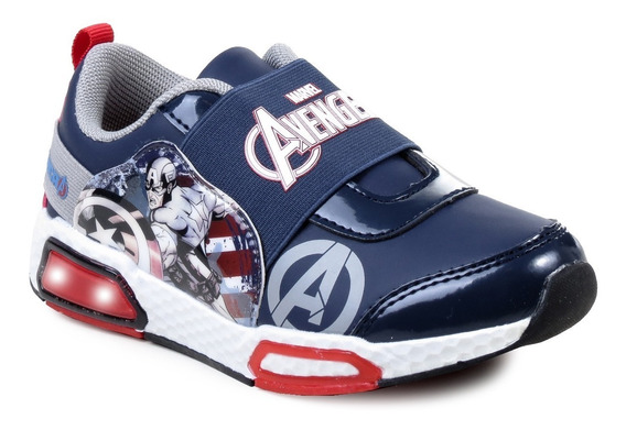 Zapatillas Marvel Capitán América Niños Luces Elástico