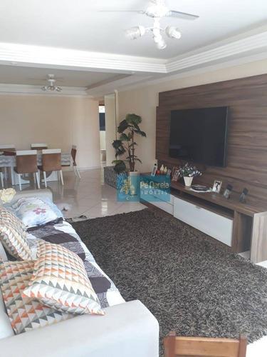 Imagem 1 de 21 de Apartamento Com 3 Dormitórios À Venda, 127 M² Por R$ 620.000 - Vila Guilhermina - Praia Grande/sp - Ap0262