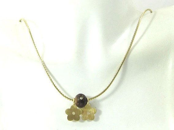 Joianete C8980-00423 Colar Tipo Esfera De Ouro Com Diamante