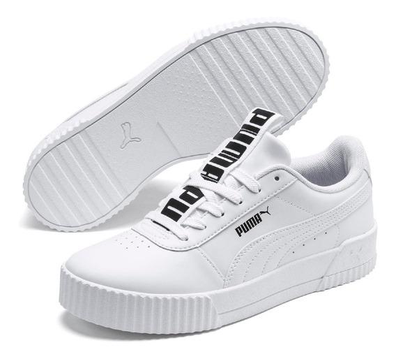 Tenis Puma Carina Bold Couro Branco 100% Original
