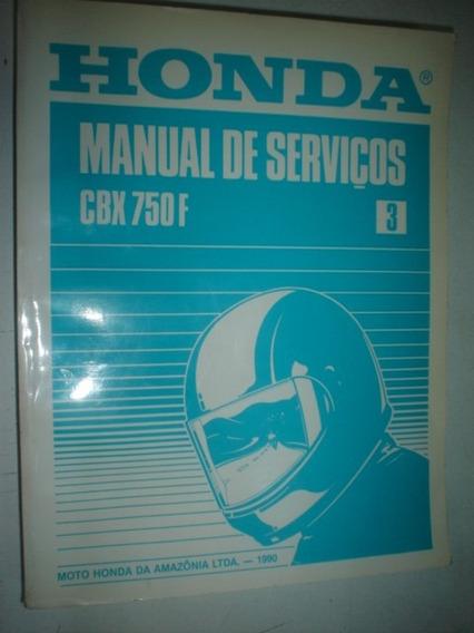 Manual Serviços Moto Honda Cbx 750f Original 750 Four Reparo