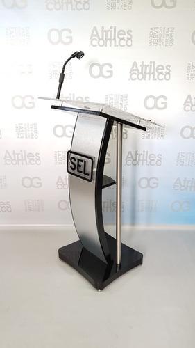 Atril At040 + Iluminacion Led + Soporte Microfono