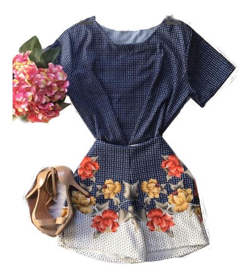 Conjunto Feminino T-shirts Short Cintura Alta Plus Size