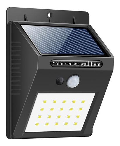 Foco Led Solar 20 Led Sensor Movimiento Exterior 4w Ml0344