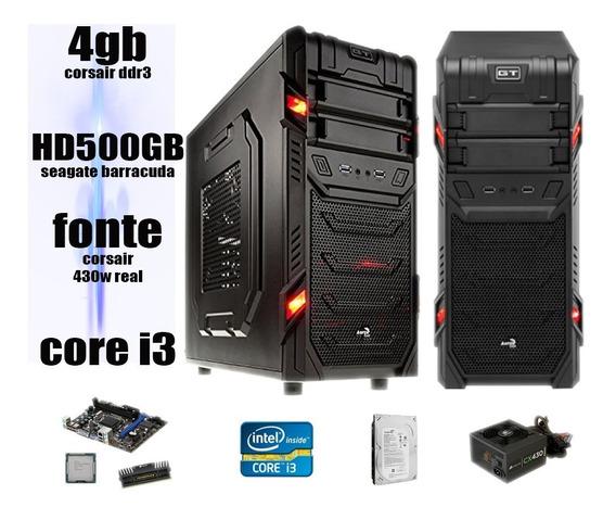 Cpu Pc Gamer I3 3.06 4gb Corsair Hd500gb Placa V Hd6570 2gb