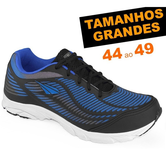 Tênis Ms Runner Marinho Tamanhos Grandes 44 45 46 47 48 49