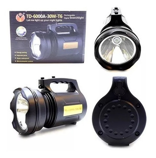 Lanterna Led Holofote T6 Recarregável 30w Alta Potência Biv