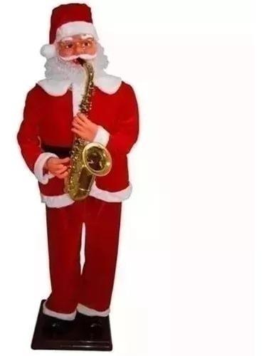 Papai Noel Musical Com Usb 180cm Tocando Saxofone