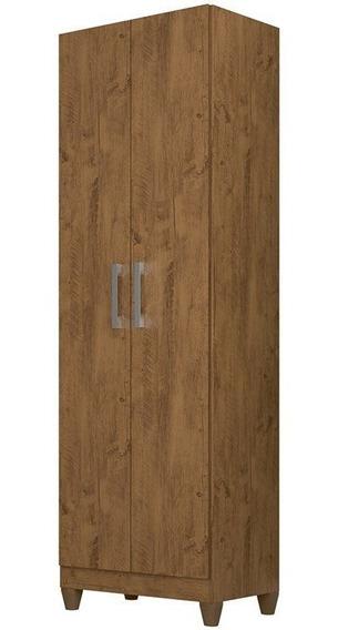 Armário Organizador Multiuso Íris 2 Portas Castanho Wood - M