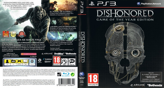 Dishonored Game Of The Year Edition Ps3 Novo Lacrado