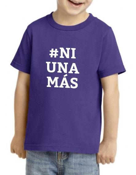 Camiseta Playera Niño Niña Feminista 9marzo Ni Una Mas