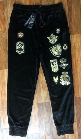 Pantalon Reason Black Gold