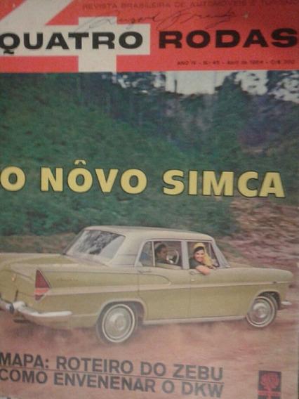 Revista Quatro Rodas 1964 Novo Sinca