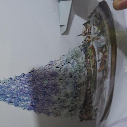 Árbol De Navidad Giratorio Escultura Tren Decoración Ventana