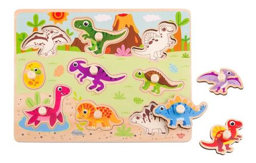 Puzzle Madera Dinosaurios Tooky Toy (ty859)