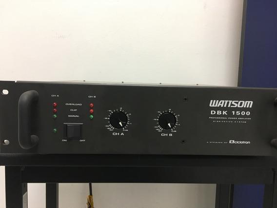 Potência Ciclotron Dbk-1500 - 187watts Por Canal