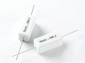 Kit 5 Resistor De Ceramica { Porcelana } 0,5 Ohm 5wats