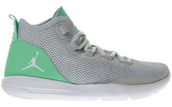 Mujer Tenis Nike Jordan Reveal Original Junior Gray Green Ña