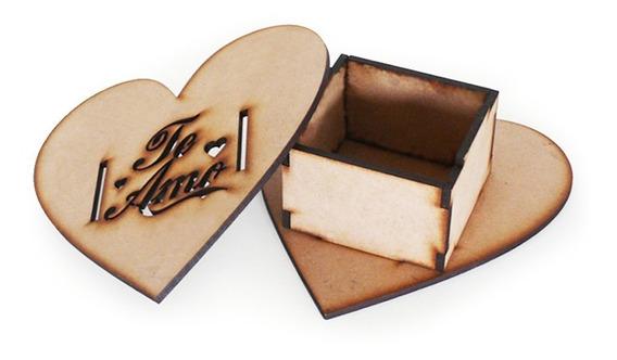 Caja Fibrofacil Corazón Te Amo Dia De Los Enamorados X24 !