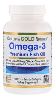 Omega 3 Premium, O Mais Vendido Eua, 100cáps.california Gold