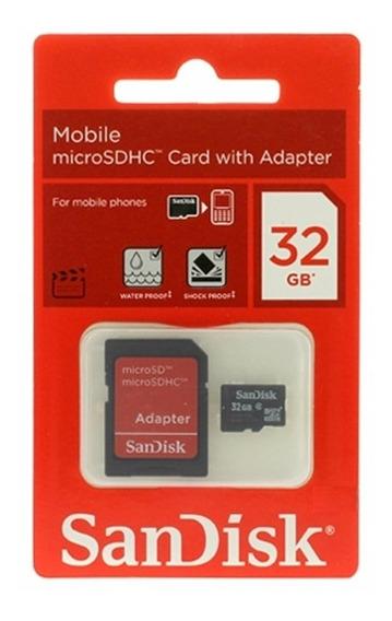 Cartão De Memoria Sandisk 32 Gb Samsung Lg Moto Nokia Lenovo