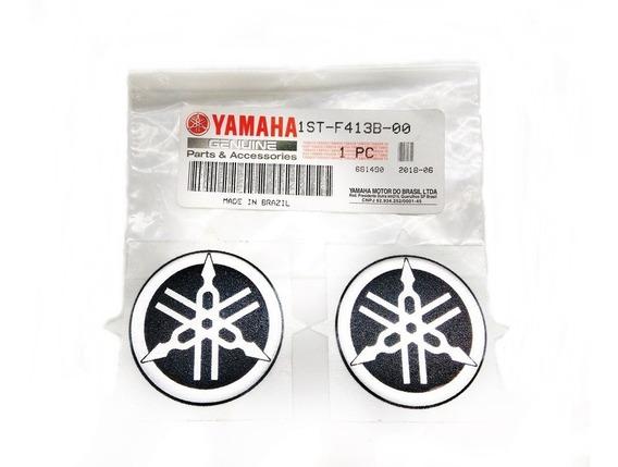 Par Emblema Diapasão 45mm Yamaha Fazer 250 2006/10 Original