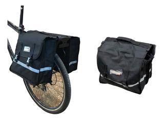 Alforja Bolso Para Bicicleta - Doble - 24.5 Litros