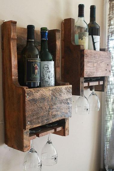 Vinoteca En Madera 100% Reciclada